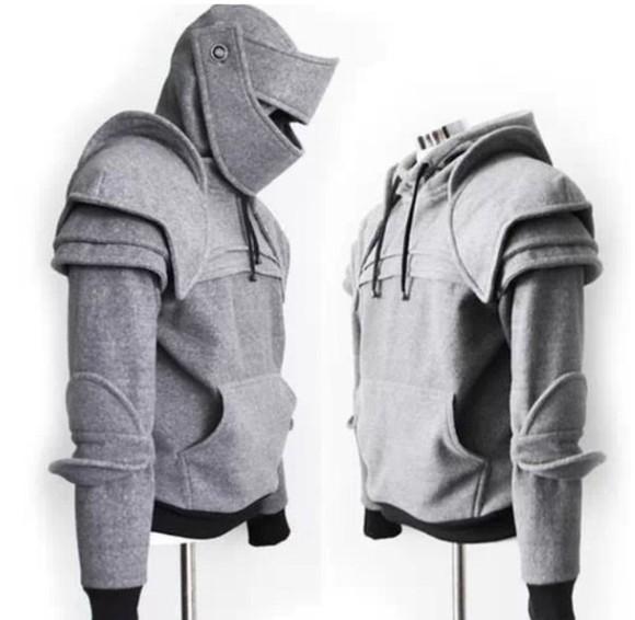 mens sweater menswear grey hoodie armour