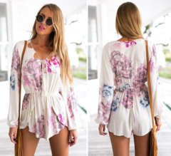 Boho Floral Long-Sleeve Romper – Dream Closet Couture