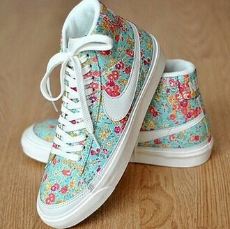 nike sneakers floral shoes mint green shoes sneakers