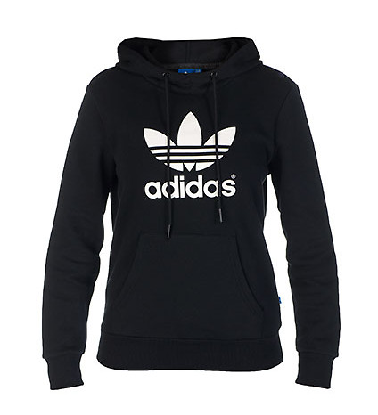 adidas Jackets Black TREFOIL HOODIE - Jackets and Outerwear - Man Alive