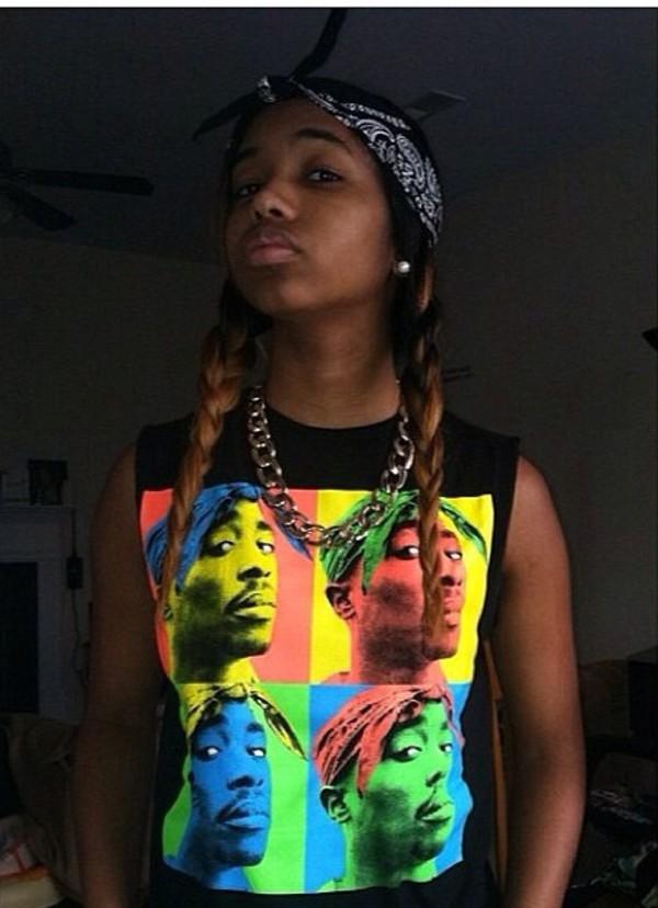 shirt tupac tupac shirt tank top thug life dope