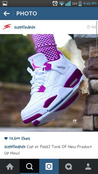 55269d30fcd7e9 shoes air jordan s jordans purple and white sneakers women size 11 23 Jordan  white sneakers low