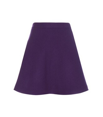 skirt wool purple
