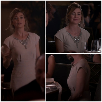 ellen pompeo grey's anatomy dress nude dress cocktail dress