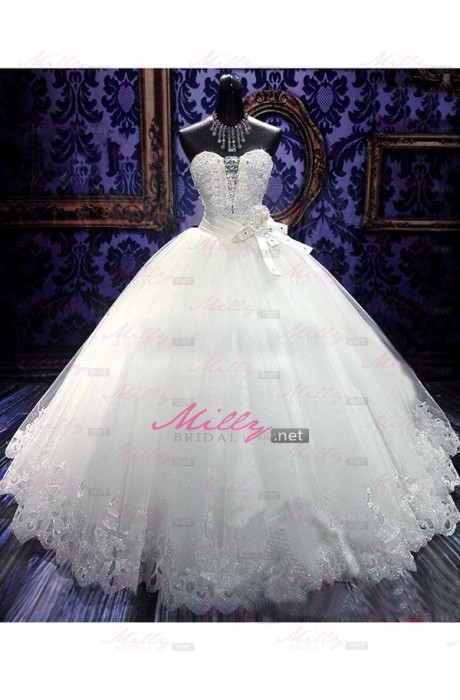 Buy ball gown organza sweetheart wedding dress at millybridal.net