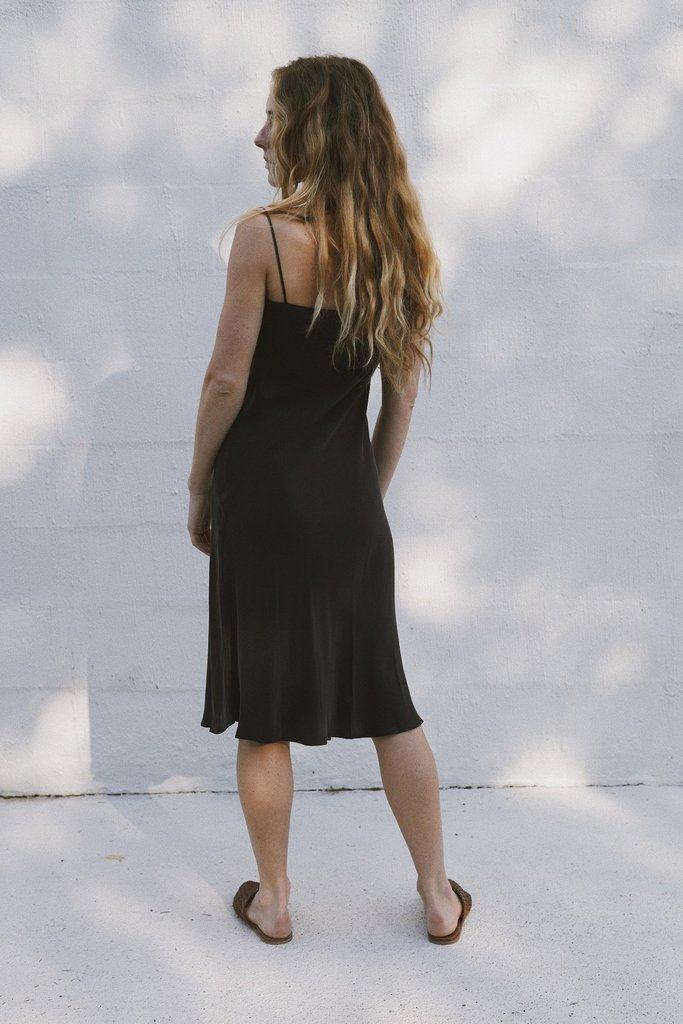 Belle Silk Dress - Black
