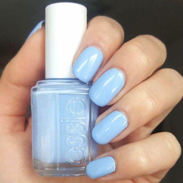 nail polish, tumblr, nails, light blue, essie - Wheretoget