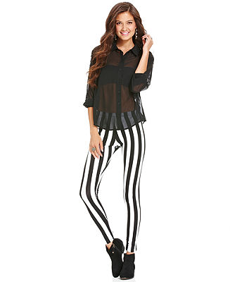 Material Girl Juniors Pants, Striped Leggings - Juniors Pants & Leggings - Macy's