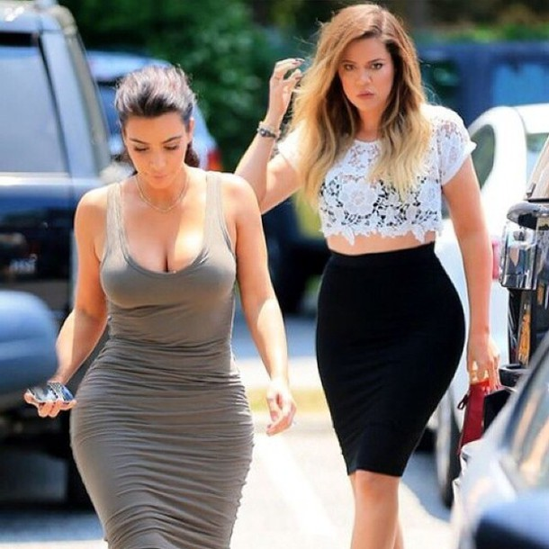 Kim Kardashian Crop Top Skirt August 2017