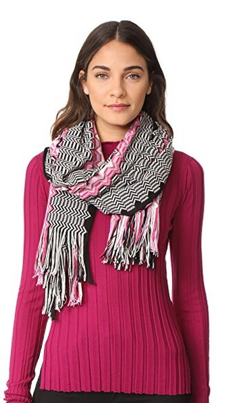 scarf striped scarf pink