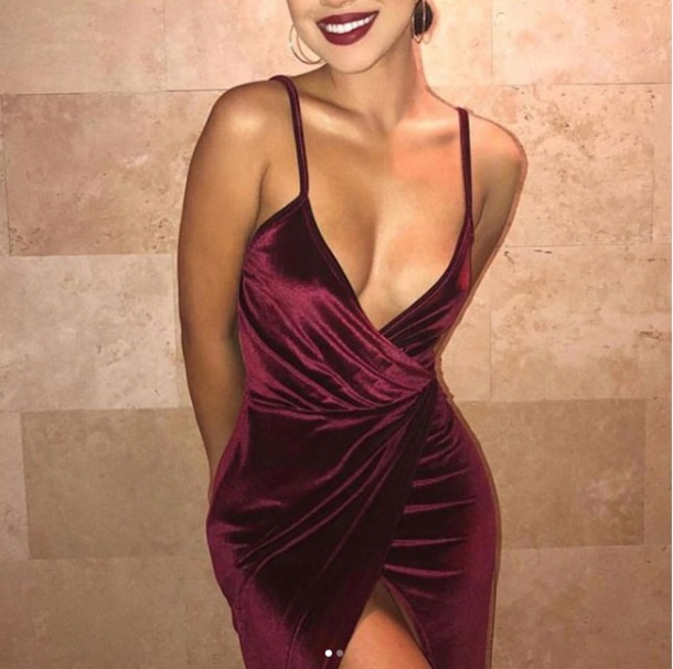 dress bodycon dress velvet velvet dress plum