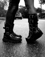 shoes,goth,black,boots,grunge,black shoes,girly,punk,punk rock,gothic lolita,outfit idea,outfit,alternative
