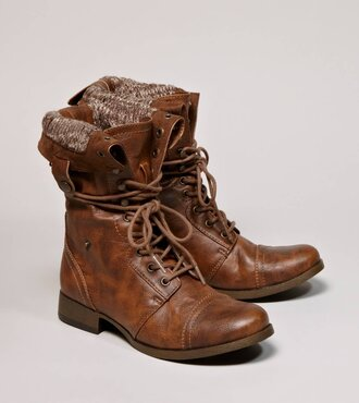 shoes fall outfits brown boots vintage musthave leather wool combat boot