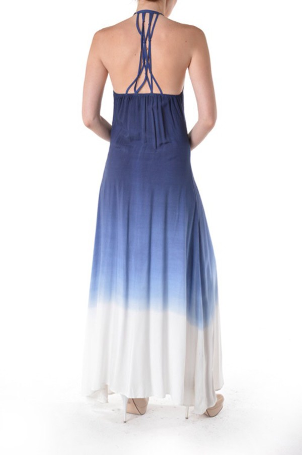 ombre tie dye fashion acid wash dress maxi dress