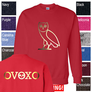 OVO Drake October's Very Own Crewneck Sweatshirt OVOXO Owl YOLO YMCMB s 5X Red | eBay