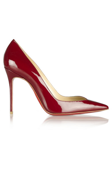 Christian Louboutin | Completa 100 patent-leather pumps | NET-A-PORTER.COM
