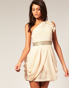 TFNC | TFNC One Shoulder Dress With Waist Embellishment at ASOS