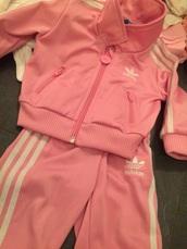 jacket,college,pink,white,baby,adidas