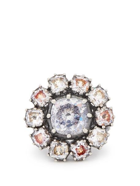 Bottega Veneta ring silver ring silver brown jewels