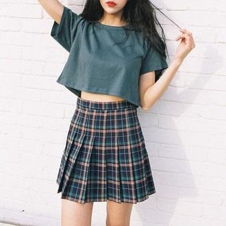 skirt plaid plaid skirt pleated skirt