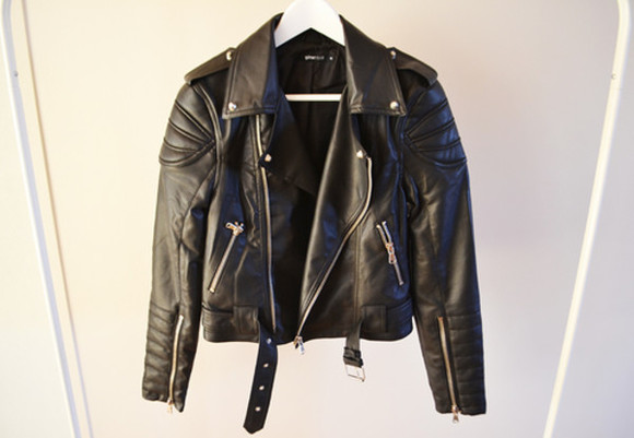 jacket leather jacket perfecto black
