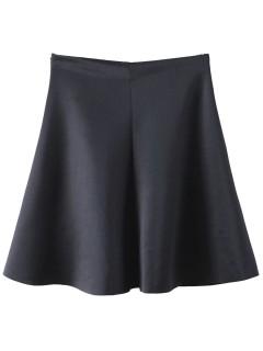 Black high waist skater skirt