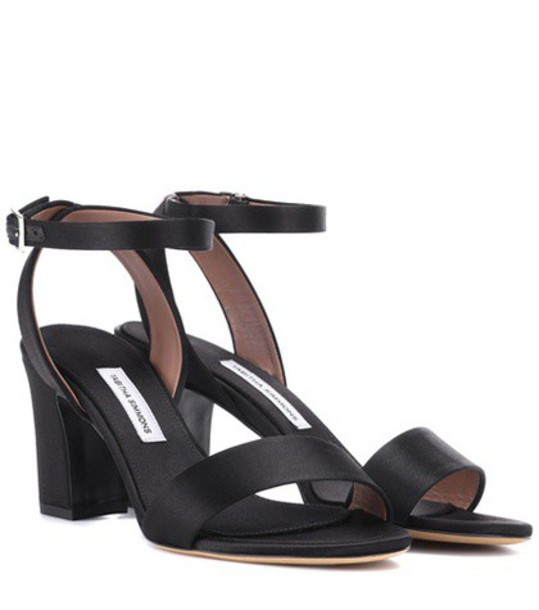 Tabitha Simmons Leticia satin sandals in black