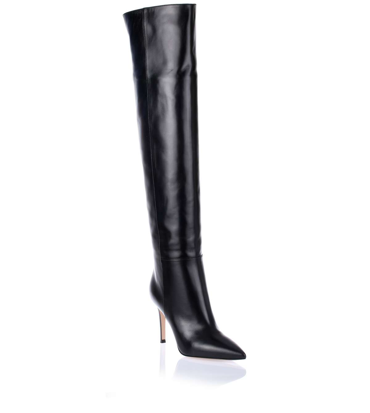 with paypal Gianvito Rossi Leather Over-The-Knee Boots with credit card cheap price discount supply cheap sale under $60 QNEdY6Dk3v