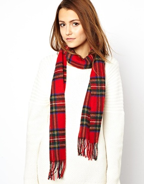 Johnstons | Johnstons Lambswool Tartan Scarf at ASOS