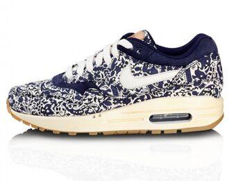 shoes nike air max liberty white blue beautiful floral paisley trainers airmax blue airmax nikeairmax