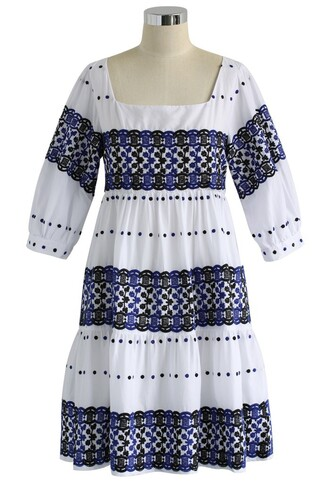 dress boho embroidered dress dolly dress