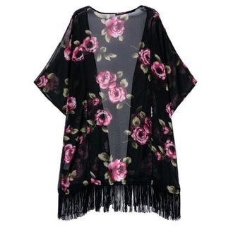 cardigan pink flowers pink kimono sweater