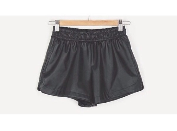 shorts faux leather leather shorts black leather stretch