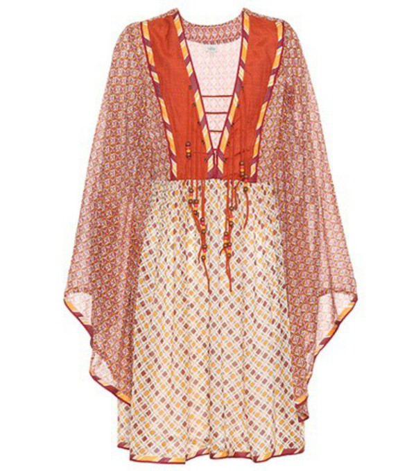 Talitha Printed dress in orange