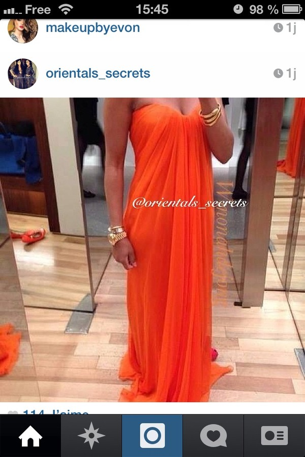 dress orange dress colorblock maxi maxi dress