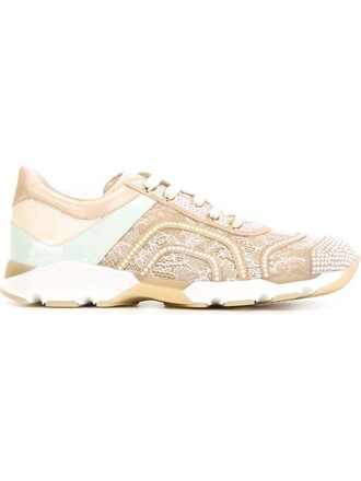 sneakers lace pattern purple pink shoes