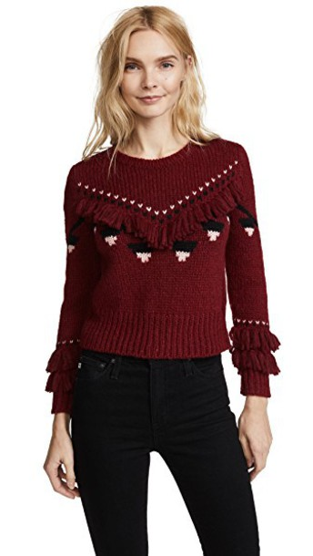 LoveShackFancy pullover cropped sweater