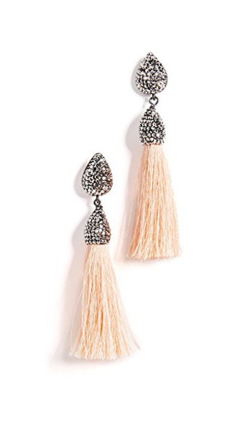 Native Gem tassel earrings jewels