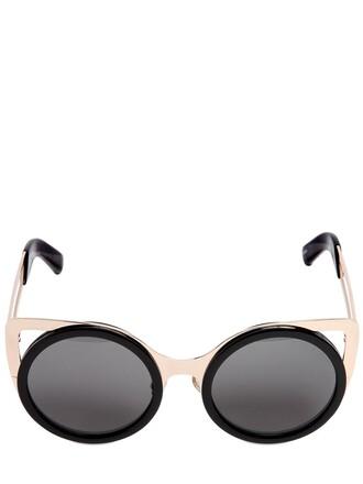 metal sunglasses gold black