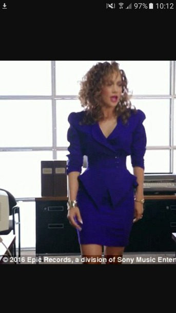 dress purple dress jennifer lopez music video