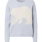 Cashmere sweater with polar bear inlay by iris von arnim | kadewe online shop