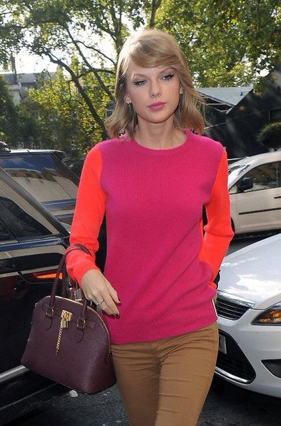 Sweater: orange, london, swift, taylor, taylor swift, pink, pink ...