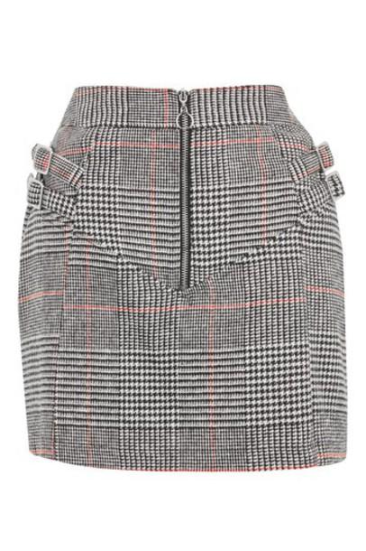 Topshop skirt mini skirt mini monochrome