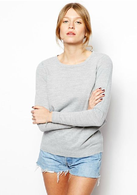 Women's round neck backless cross string knit pullovers online