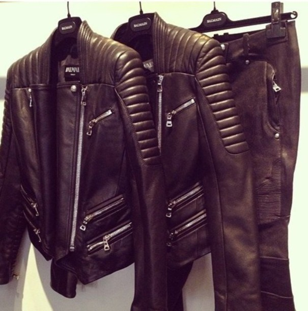 Jacket: jacked, leather, biker, black, black leather jacket, biker ...