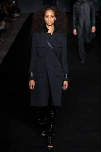 coat rag and bone ny fashion week 2016 all black everything model runway fall coat