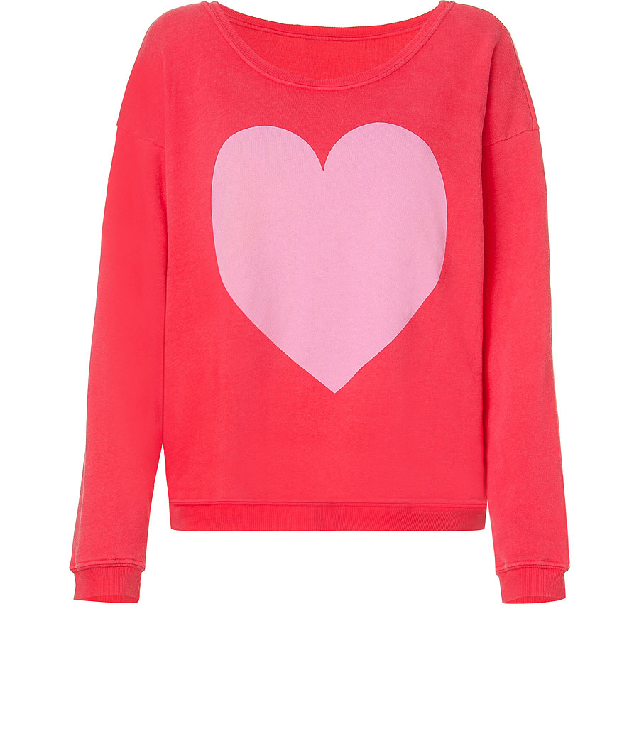 Wildfox Red Big Heart Oversized Sweater | STYLEBOP.co.uk (sold out)