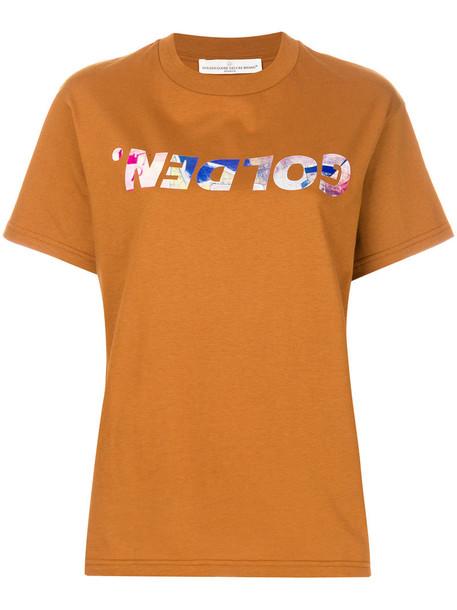 GOLDEN GOOSE DELUXE BRAND t-shirt shirt t-shirt women cotton print brown top