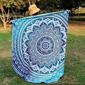 home accessory,ombre roundie,blue roundie,multimatecollection,indian tapestry hippie,hippie tapestry,roundie mandala,towel tapestry