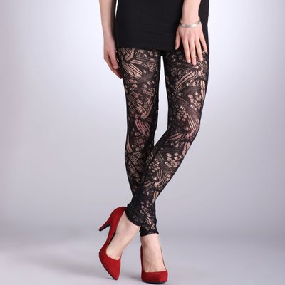 Legging dentelle stretch